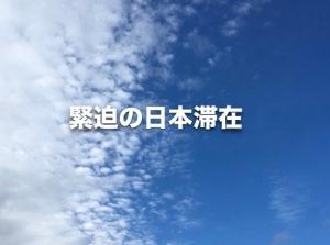 緊迫の日本滞在